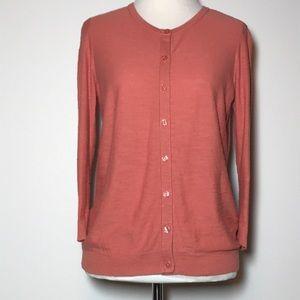 LOFT Cotton 3/4 Sleeves Cardigan, Sze MP, Like New